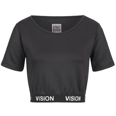 Vision Street Wear Damen Fitness Bodycon Crop Top Sport Shirt RWIV0009 neu
