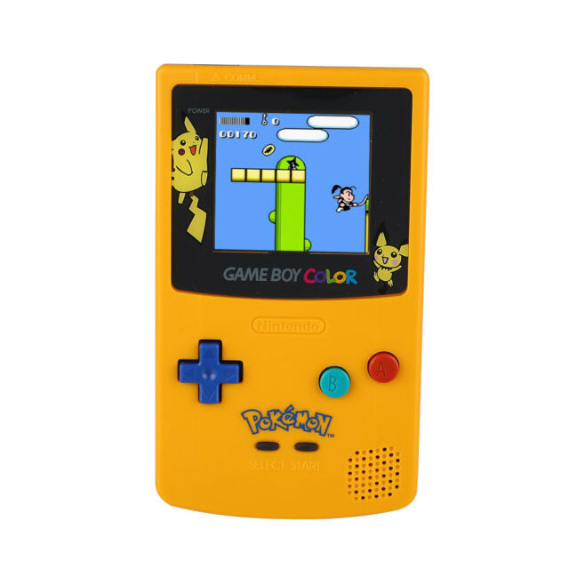 NEW SCREEN Nintendo GBC Limited Touch Handheld Game Console Advance Yellow MINT