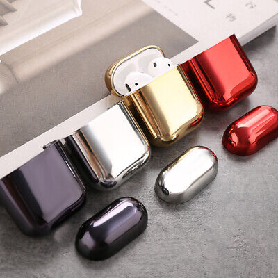 Electroplated Hard Shell Shockproof Protective Case Cover Skin for AirPods 1 2 S