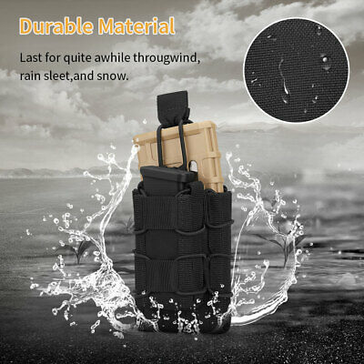 HUNTVP Tactical Molle Open Top Magazine Pouch Double Rifle Pistol Mag Holder Bag - $6.99