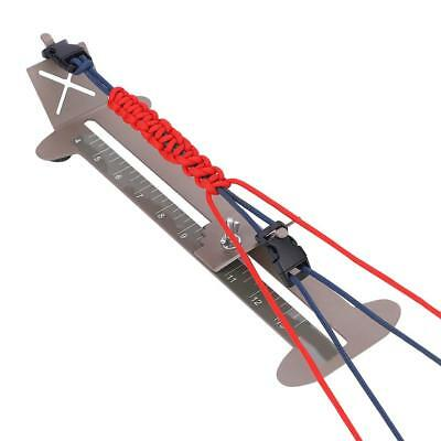 Einstellbare Paracord Jig Kit Armband Maker Stahlrahmen Flechten DIY Craft Tool - Armband Craft Kit