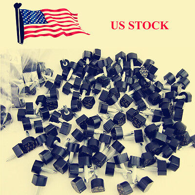 - 60 PCS Womens Shoe High Stiletto Repair Caps Heel Cap Tip Kit Dowel Pin PU Black