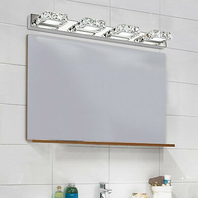 Modern Bathroom LED Crystal Mirror Front Lighting Wall Lamp Fixture Vanity Light