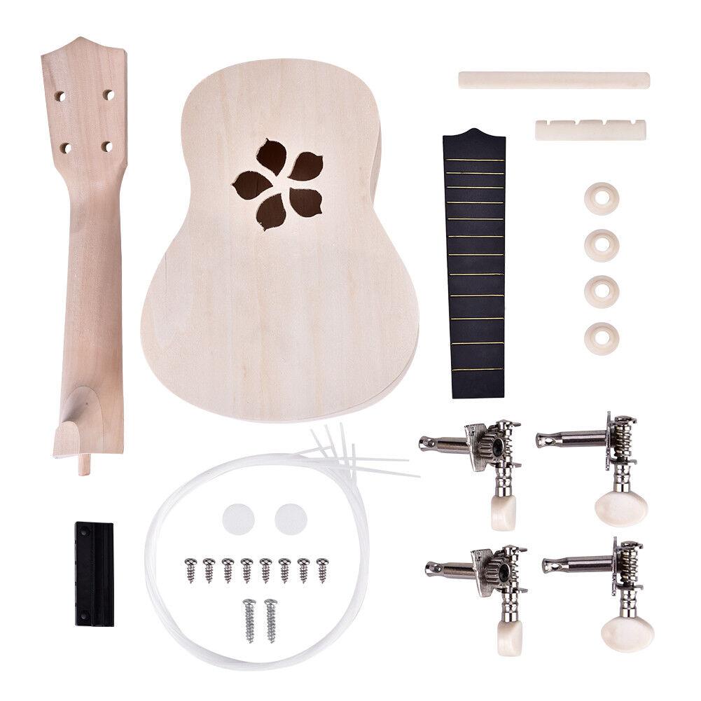 21 Zoll Ukelele Ukulele DIY Kit Hawaii Gitarre Lackierbar Musikinstrumente Hot Blütenblatt