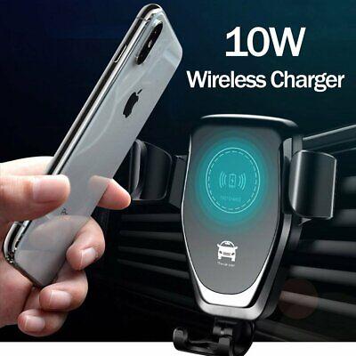 Qi Auto KFZ Handy Halterung Halter Schnell Wireless Ladegerät für iPhone Samsung