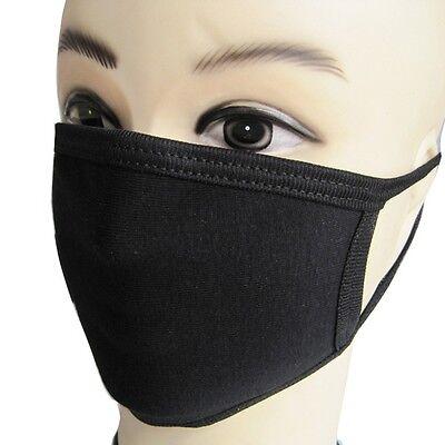 Unisex Schwarz Mundschutz Anti-Staub Mund Maske Baumwolle (Mund Maske)