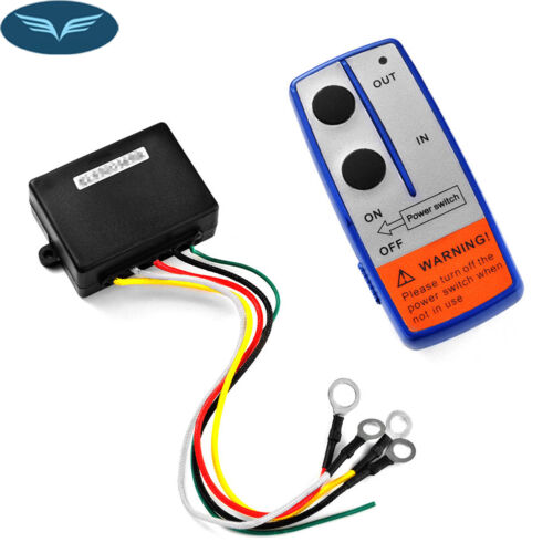 NEW 12V Electric Winch Wireless Remote Control System Switch For Truck Jeep TRA