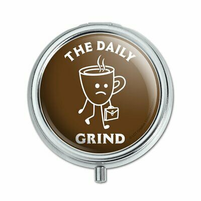 The Daily Grind Coffee Work Funny Humor Pill Case Trinket Gift Box for sale  Shipping to India