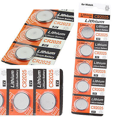 5X CR2025 3V Button Coin Cells Batteries for Watch Remote Calculator Toy Sturdy