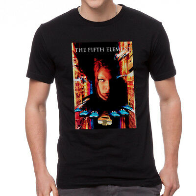 The Fifth Element Movie Poster Men's Black T-shirt NEW Sizes S-2XL ()