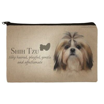 Shih Tzu Dog Breed Makeup Cosmetic Bag Organizer Pouch