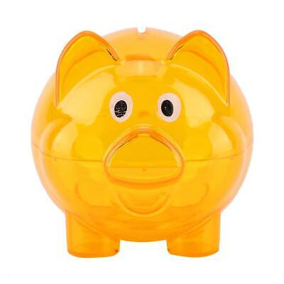 Piggy Bank Pig Shape Transparent Money Boxes Kids Gift Lovely Furniture