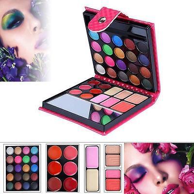EYE Shadow 32 Colors Eyeshadow Palette Lip Gloss Blush Cosmetic Set Kit Rose (Eye Shadow Blush Lip Gloss)