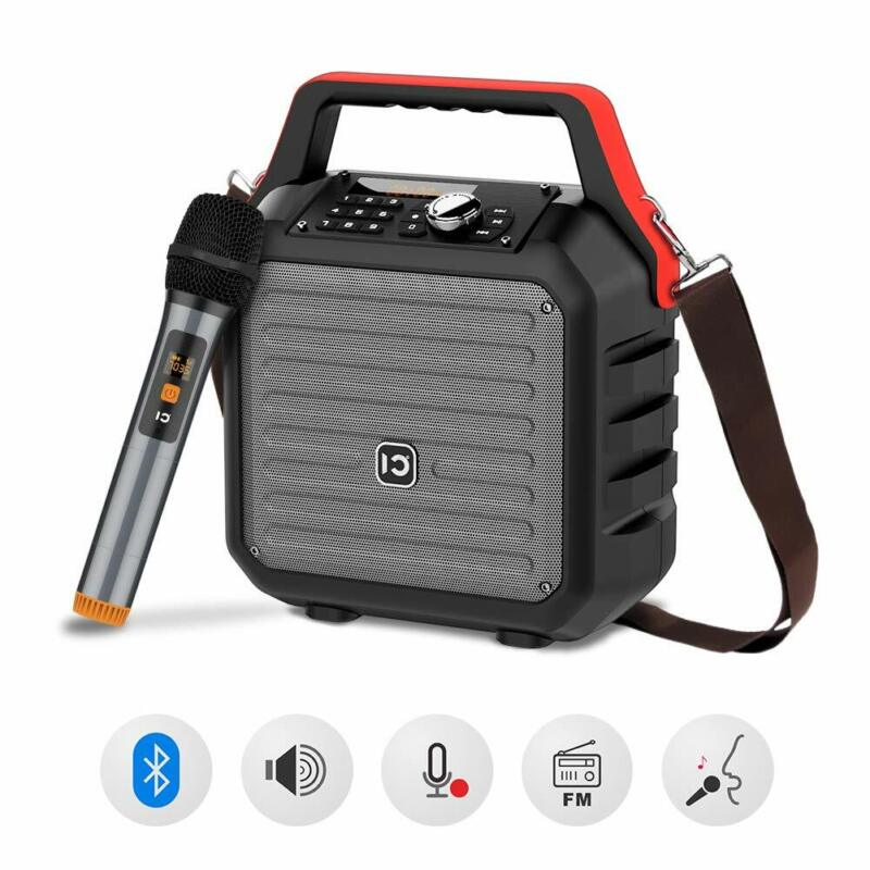 Shidu Bluetooth Speakers With Handheld Microphone Portable P