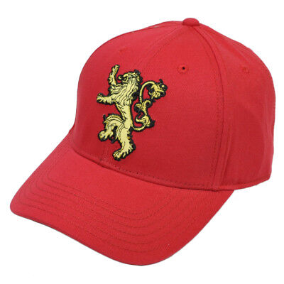 Game of Thrones Lannister HBO TV Show Series Red Hat Cap Snapback Curved Bill