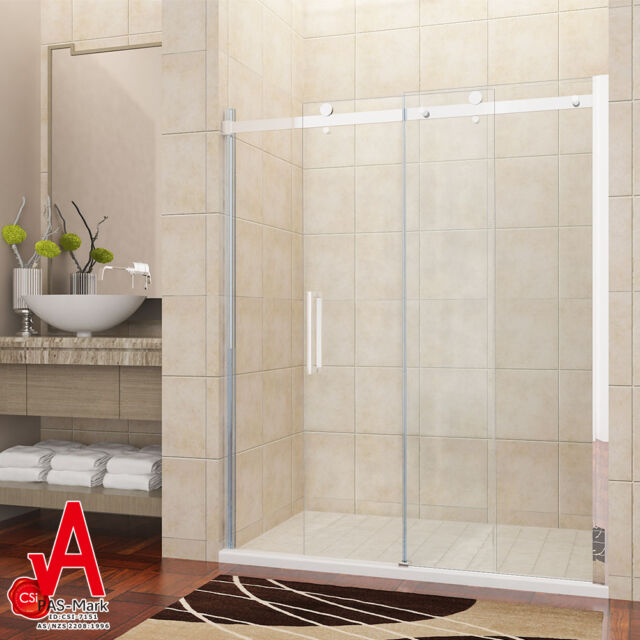 Ebay Shower Screen 1200Mm Pivot Shower Screen Door Extended Glass Panel Wall To Wall