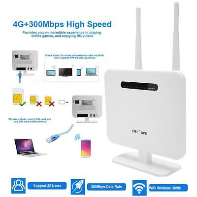 MODEM ROUTER PORTATILE WIRELESS WIFI SIM LAN 4G LTE 3G MOBILE HOTSPOT 300MBPS