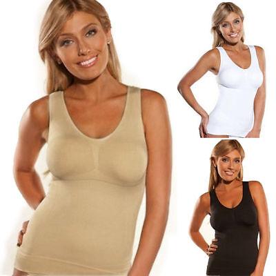 Women's Cami Body Shaper Genie Bra Tank Top Firm Tummy Control Slimming Camisole