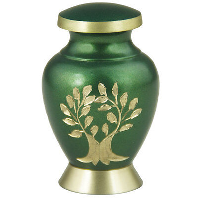 Adult Cremation Keepsake Urns or Pet - Brass Mini Urns for Human Ashes / Funeral