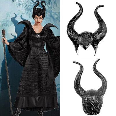Halloween Maleficent Kostüm Cosplay Maske Hexenhut Schwarz Hörner - Maleficent'kostüm Hut