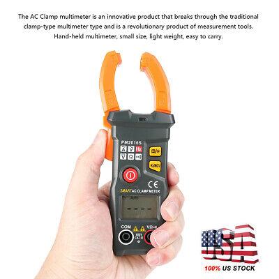 Digital Clamp On Meter Multimeter Ac Dc Voltmeter Auto Range Volt Ohm Amp Tester
