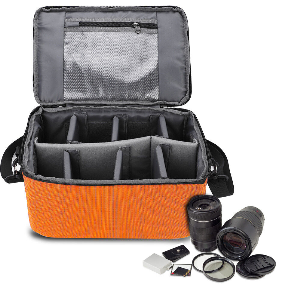 Thick Padded DSLR SLR Camera Lens Bag Inner Dividers Insert