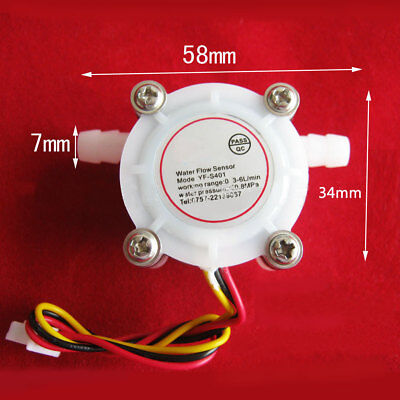 Hot Water Coffee Flow Sensor Switch Control Flowmeter Meter Counter 0.3-6lmin