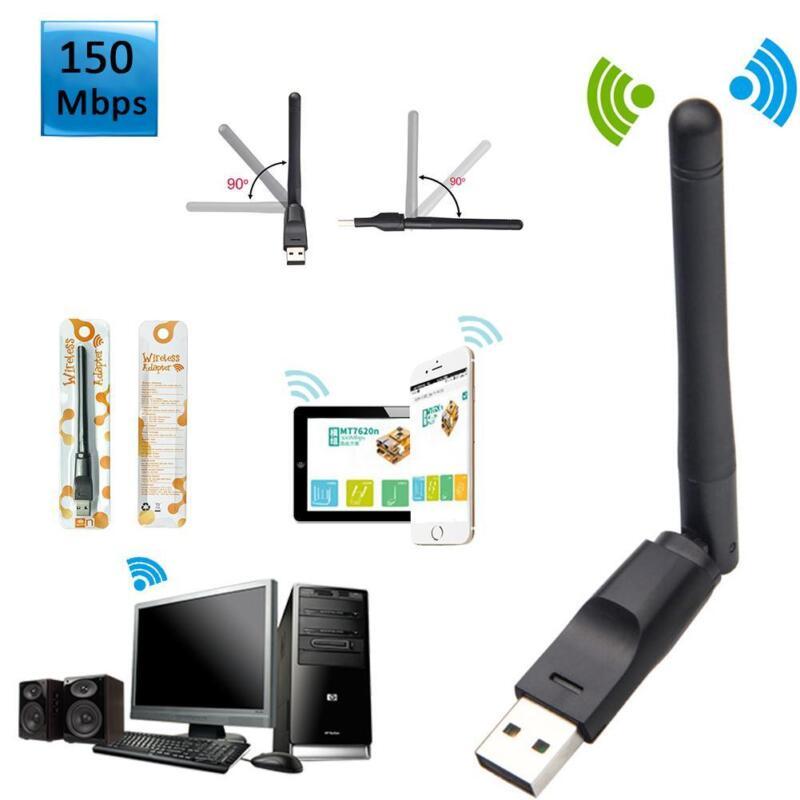 150Mbps USB Wifi Wireless Adapter W/ External Antenna For La