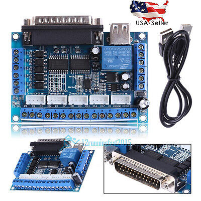 New Mach3 Cnc Stepping Motor Driver Interface Adapter Breakout Board Usb Cable