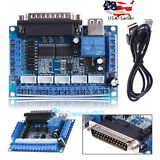 New Mach3 CNC Stepping Motor Driver Interface Adapter Breakout Board +USB Cable