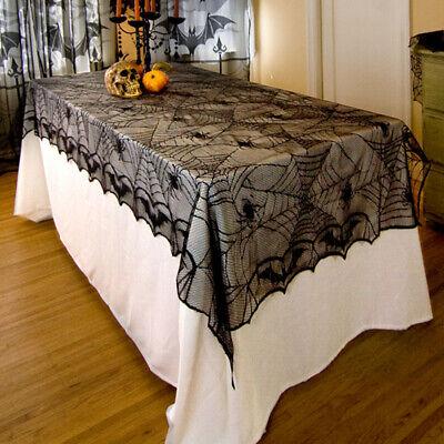 Spitzen Fledermaus Spinnennetz Tischdecke für Halloween Dekorationen Party