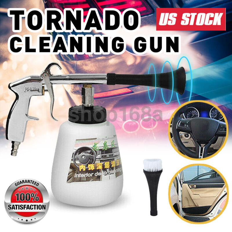 High Pressure Auto Car Air Pulse Cleaning Gun Brush Washer Foam Care Tool Kit