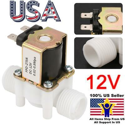 12v G12 Nc Plastic Electric Solenoid Valve Water Normally Closed Electrical Us