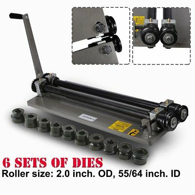 Sheet Metal Bead Roller Machine Steel Gear Drive Bench Mount 18-gauge W 6 Die