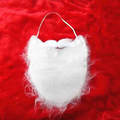 Fake White Beard (White Cute Fake Beard and Mustache Santa Claus Costume Disguise)