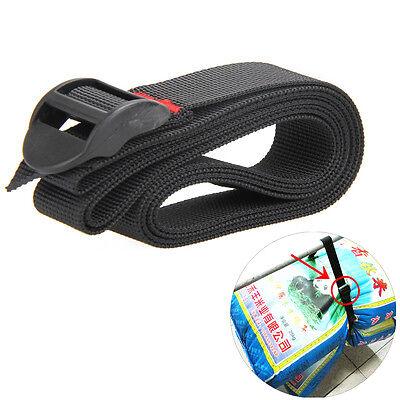 Black Nylon Cargo Tie Down Luggage Secure Lash Belt Strap Cam Buckle Travel Kits