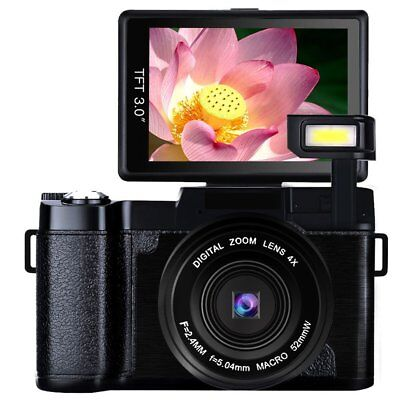 Digital Camera Vlogging Camera Full HD1080p 24.0MP Camcorder 3.0 Inch Flip Scree