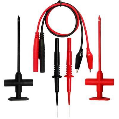 Aidetek Multimeter Test Leads Set Needle Tipped Tip Meter Probe 40mm Test Leads