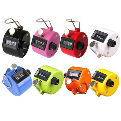 Mechanical Manual Palm Clicker Click 4 Digit Hand Tally Counter Count Number TW