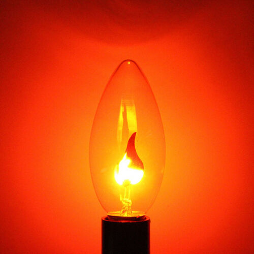 E14 E27 Warm Light Flicker Fire Flame Bulb Candle Lamp