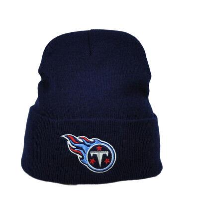 NFL Tennessee Titans Navy Blue Cuffed Knit Beanie Skully Football Winter Hat Navy Blue Nfl Football