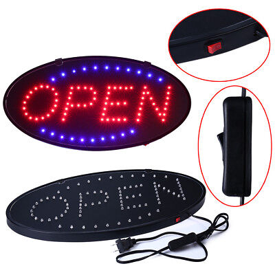 Bright Animated Led Open Store Shop Business Sign 19x10 Neon Display Lights Fc