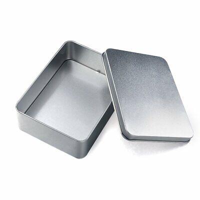 2stk Silber Metall Mini Aufbewahrungsbox Geld-Münzkassette Postkarte Foto