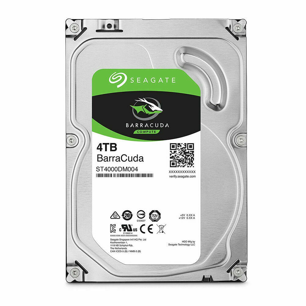 Seagate BarraCuda 4TB 256MB Cache SATA lll 6Gb/s 3.5″ Hard Drive HDD ST4000DM004