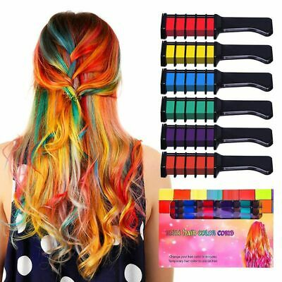 Temporary Hair Color Combs Kit Fashion Colorful Party Halloween Salon Dyeing Top - Halloween Hair Dye Temporary