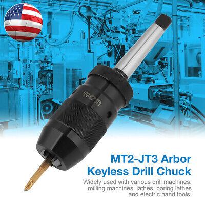 1-16mm Steel Self Tighten Keyless Lathe Drill Chuck With Mt2-jt3 Taper Arbor Set