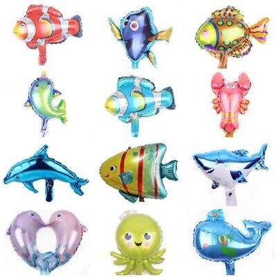 Fish Balloon (Ocean Dolphin Octopus Shark Fish Foil Balloons Animal Birthday Party Balloon)