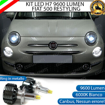 KIT A LED H7 ABARTH 500 RESTYLING CANBUS 6000K XENON 9600 LUMEN...
