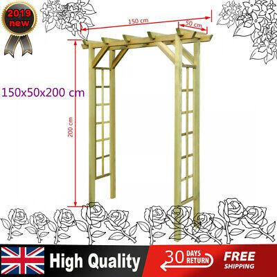 New Impregnated Wooden Arbour / Rose Arch Garden Gate  FSC Impregnated Wood UK