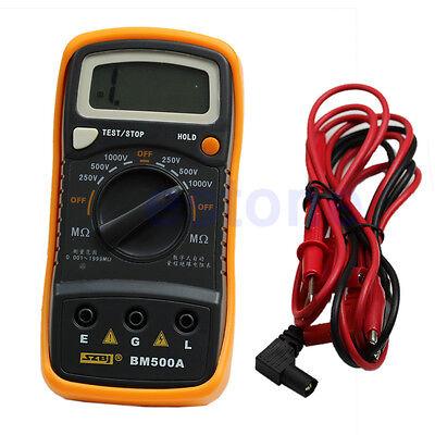 Digital Insulation Meter Resistance Tester Bm500a 1000v 1999m Megohmmeter Megger